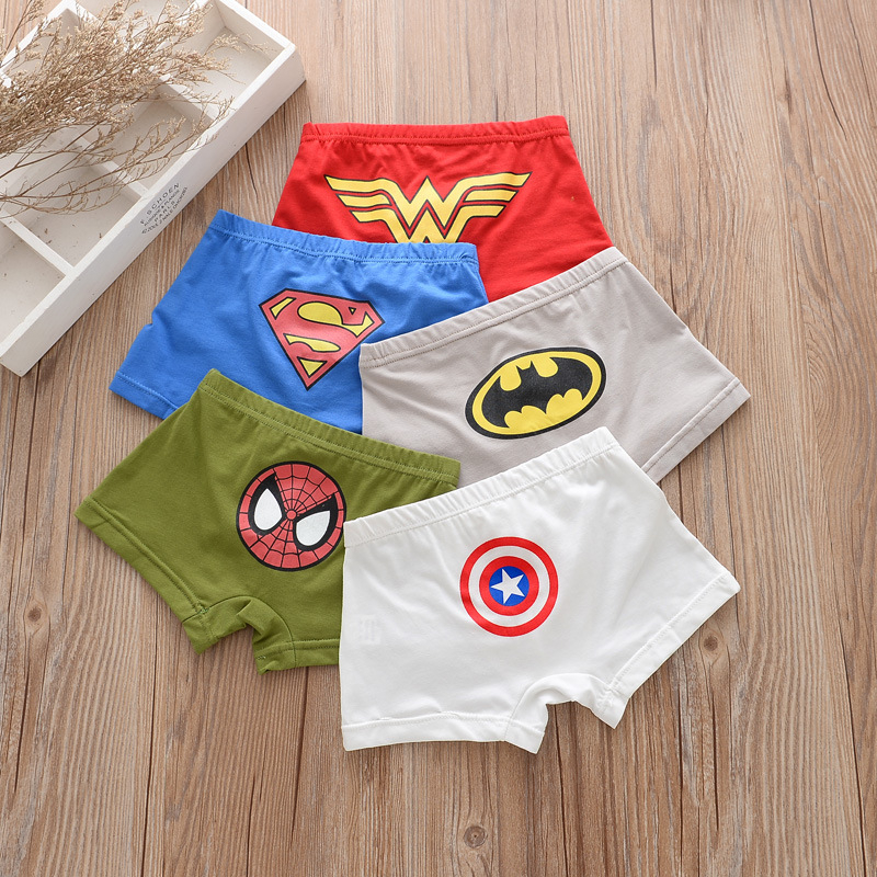 5 Pcs/lot Children Underwears Kids Cartoon Briefs Boy Underpants Child Girl Cotton Panties For Panty Baby Girls Boy's Boxer