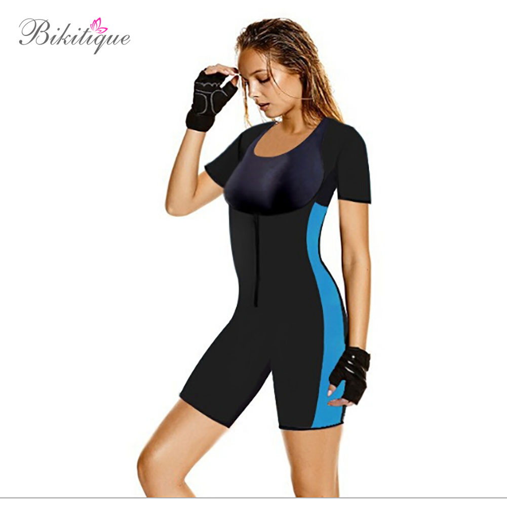 Profession Lady Women Mid-thigh Thermal Neoprene Body Shaper U shape Low out Slimmer Tummy Bodysuit Shapewear