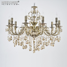 American Country Retro Vintage Alloy Chandeliers Lightings Crystal 10 Lamp  Candelabra For Aisle Hallway Porch Staircase
