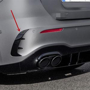 Image 1 - สำหรับ Mercedes Benz A Class W177 Hatchback A180 A200 A220 A250 A35 2019 + ด้านหลังกันชนสปอยเลอร์สติกเกอร์ fender Canards FINS