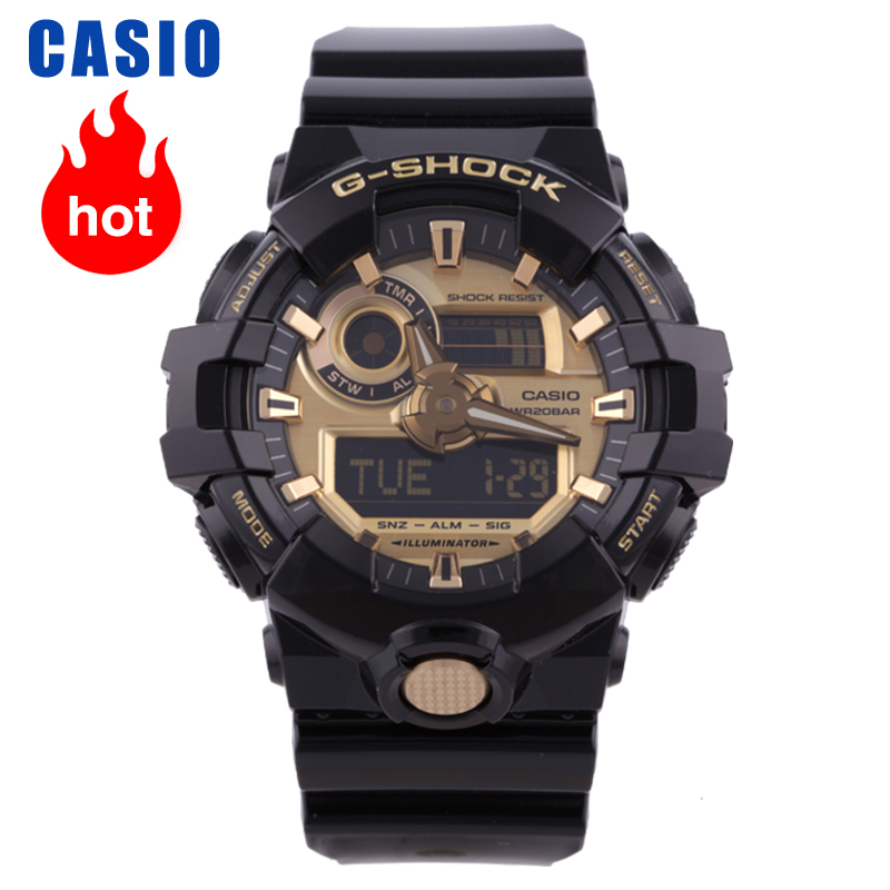 Casio watch multi functional outdoor sports waterproof men's watch GA 710GB 1A|Quartz Watches| |  - title=