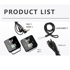Image 3 - Feidu FM40 מיני אלחוטי מיקרופון עבור DSLR מצלמה טלפון נייד Chargable Lavalier מיקרופון TX משדר RX מקלט