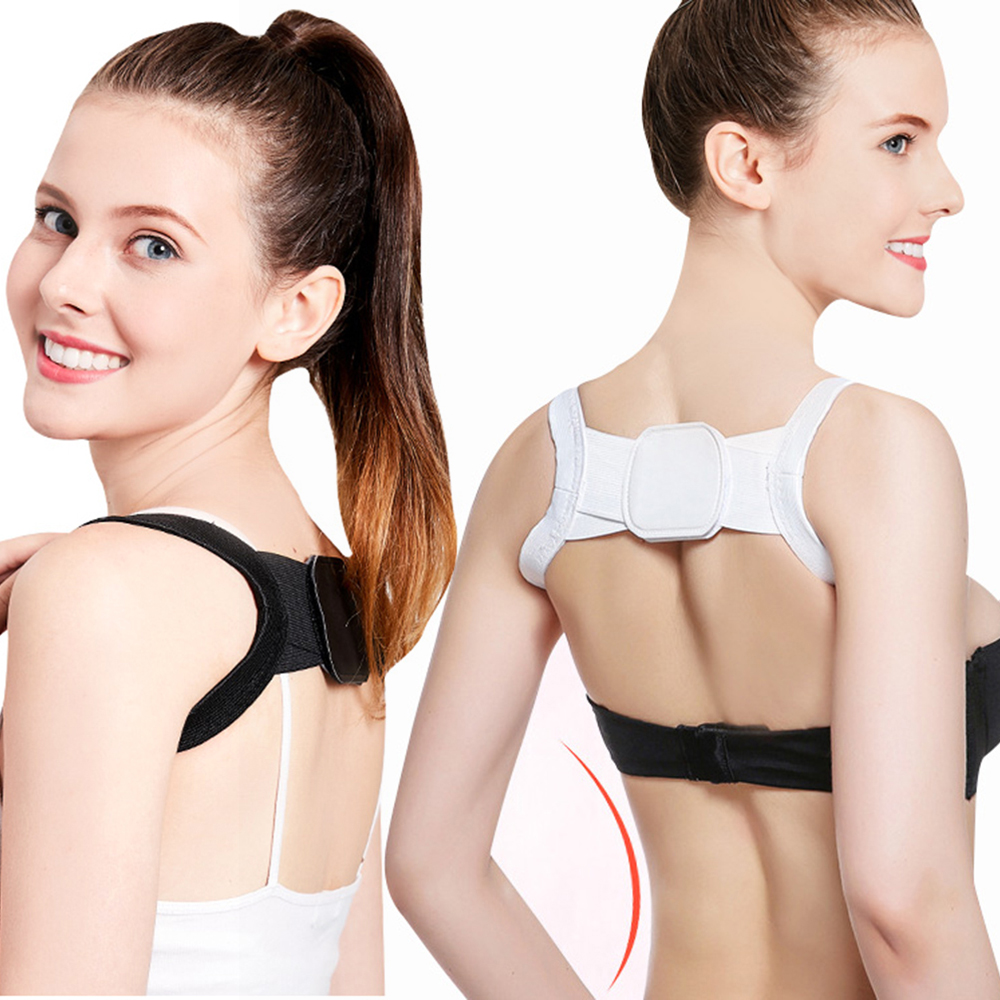 Adjustable Straight Back  Good Correction Invisible Shoulder Strap Hunchback Breathable Open Back Orthopedic Fitness Gear
