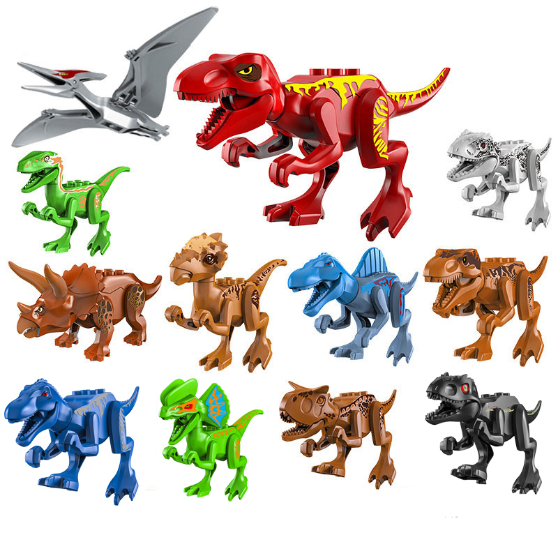 NEW Assemble Building Blocks Jurassic Park Dinosaur World Pterosaurs Triceratops Models Toys For Children Bricks Birthday Gift