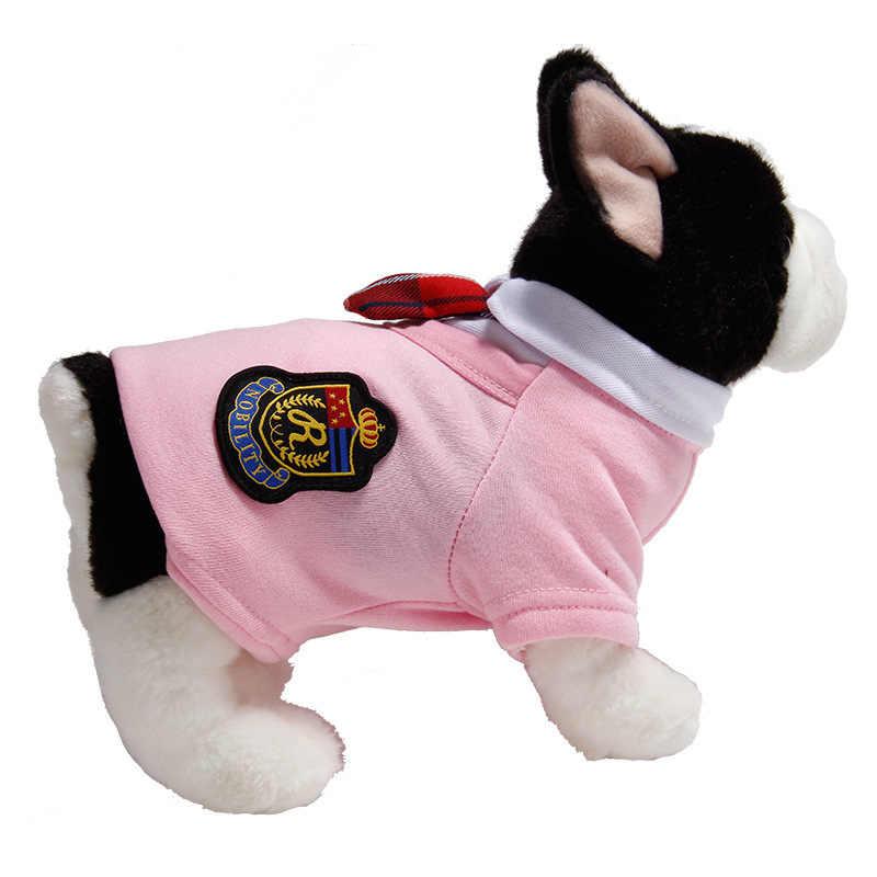 Hond Paar Kleren Uniform Kleine Medium Honden Kostuum Chihuahua Puppy Pet Shirt Kleding Leuke Campus Stijl XS-XL