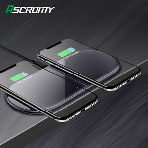 Image 1 - 15W Qi inalámbrica Dual de carga Estación de muelle para Huawei P30 Pro amigo RS Samsung Nota 10 Plus S9 Iphone 11 Pro Max XR cargador rápido