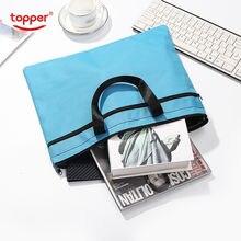 Папки для файлов a4 портфель сумка документов Портативная двухслойная