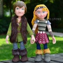 """เทรนเนอร์มังกรภาพยนตร์ของเล่น 15 """"Hiccup Astrid Plush ตุ๊กตานุ่มตุ๊กตา Poseable Figure"""