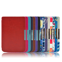 цена на Protective Smart  Leather Cover Case Skin For Pocketbook basic touch lux 614 624 626 ereader case+screen protector