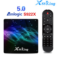 X88 King 4GB 128G Amlogic S922X TV Box Android 9.0 Dual Wifi BT5.0 1000M 4K Google Play Store Netflix Youtube 4K Media Player