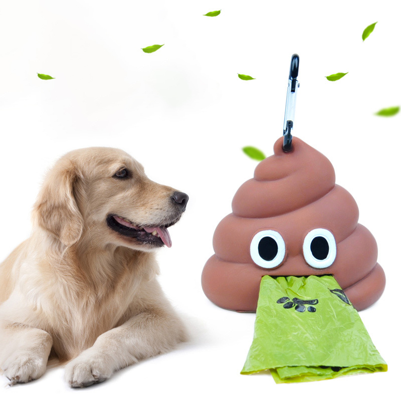 OWDBOB Dog Poop Bag Dispenser Eco-friendly Pet Waste Bag Holder Outdoor Portable Dog Garbage Bags Carrier Holder Pet Supplies