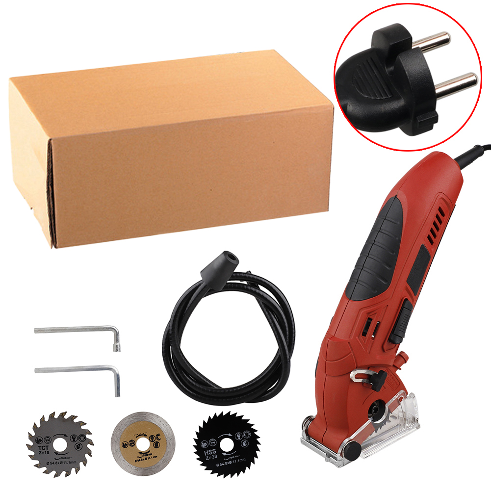 Multifunctional Power Mini Electric Saw Circular Wood Saw Metal with 3pcs Blades Outdoor Portable Camping Activity Tool