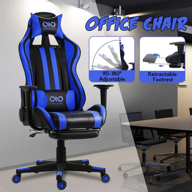 WCG Gaming Chair Computer Armchair Home Swivel Office Chair Lying Household Lifting Adjustable Desk Chair Racing Gamer Chair 5