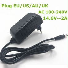 1PC 14.6V 2A smart charger for  4S 12.8V life LiFePO4 EU / US/ AU UK Plug