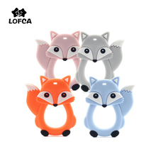 Pacifier Chain Teething-Pendant-Toy Baby-Care Food-Grade LOFCA Fox Silicone Bpa-Free