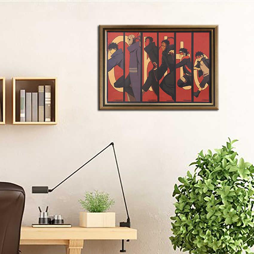 Gravata ler clássico anime personagem cartaz de papel kraft posters do vintage casa sala arte adesivos de parede bar café interior deco 50.5x35cm