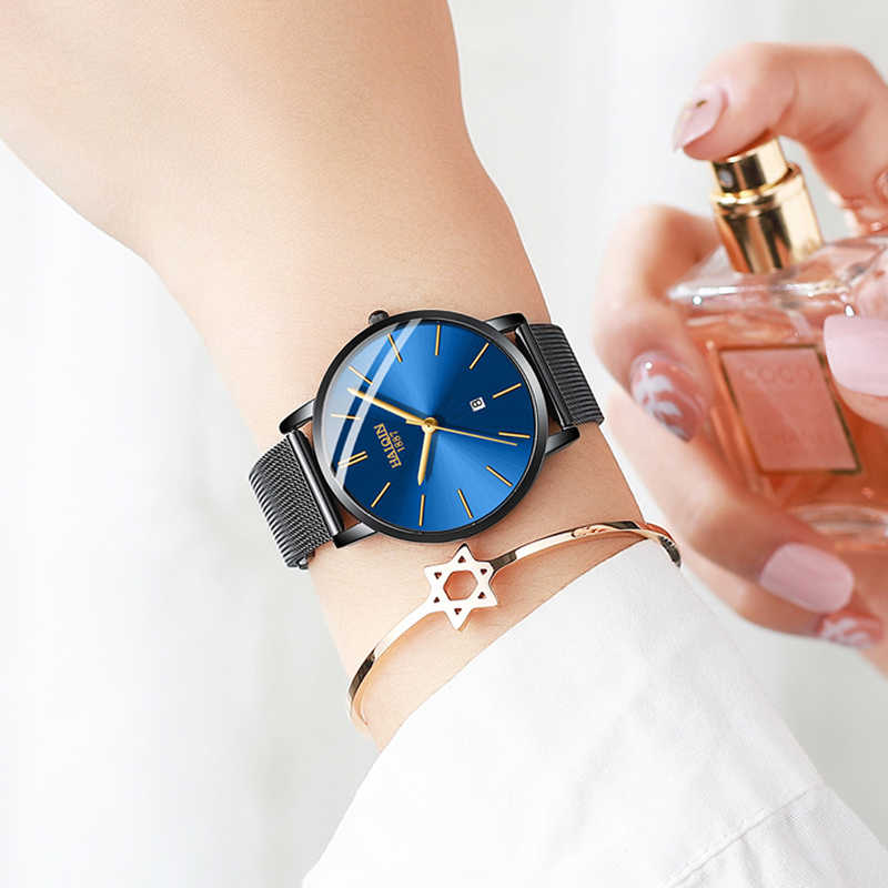 NEW HAIQIN Top Brand Luxury Women Watches Girls Quartz Clock Leather Causal Gold White Female Wristwatch Relogio Feminino 2019
