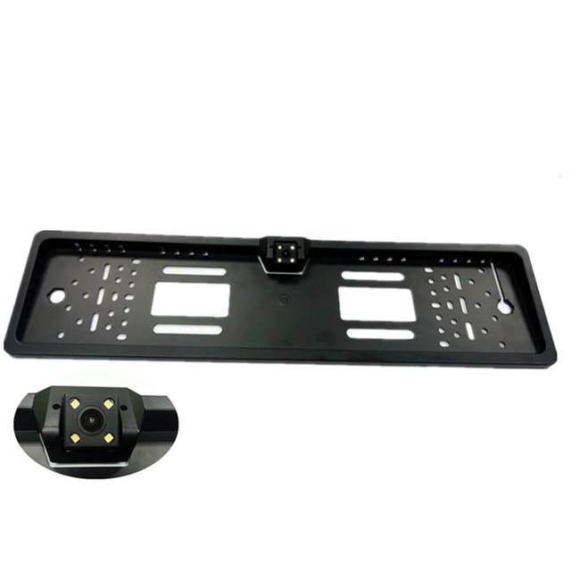 자동 Parktronic EU 자동차 번호판 프레임 HD 나이트 비전 자동차 후면보기 카메라 역방향 후면 카메라 4 LED 빛