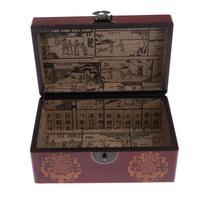 Decorative Wooden Jewelry Trinket Keepsake Storage Box Wood Treasure Box Money Saving Bank
