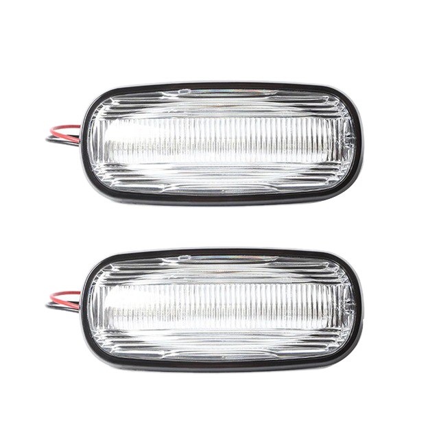2Pcs Auto Led Dinamica Side Mark Turn Luce di Segnale Del Flash Acqua per Land Rover Discovery <font><b>Defender</b></font> <font><b>Td5</b></font> Bianco image