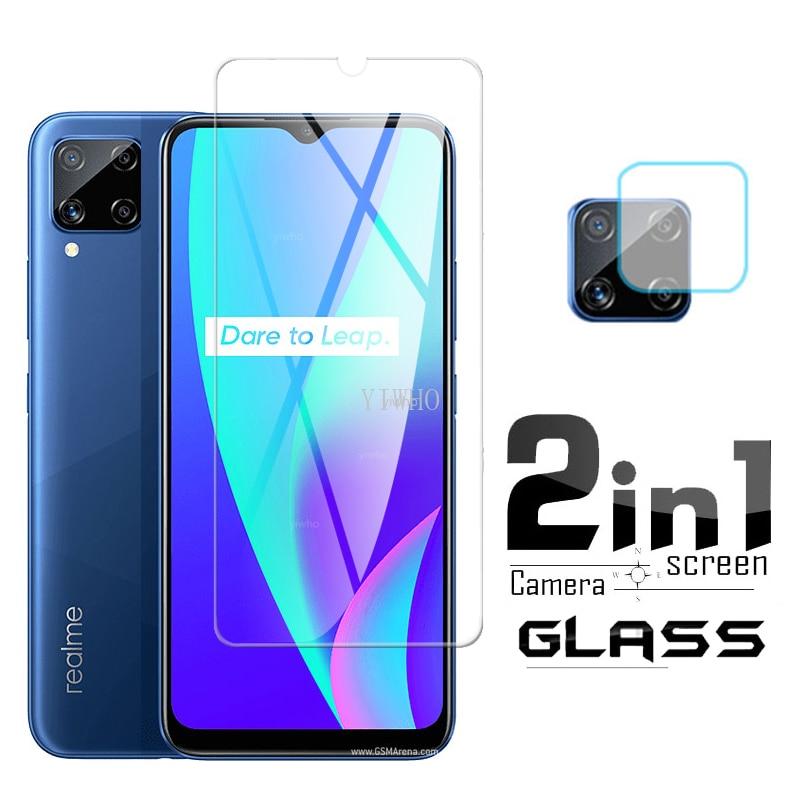 Защитное стекло 2 в 1 для Oppo Realme C15, стекло для объектива камеры Realmi c 15, фотопленка RMX2180