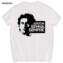 Nova marca de moda t camisa de algodão dos homens de ayrton senna sempre t camisa nova marca shubuzhi marca tamanho euro camiseta