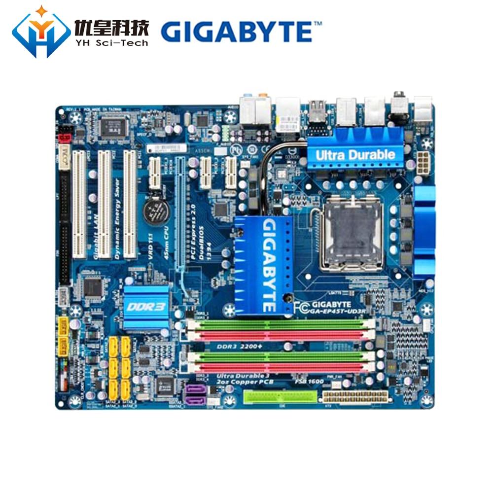 Original Used Desktop Motherboard Gigabyte GA-EP45T-UD3R P45 LGA 775 Core 2 Extreme/Core 2 Quad/Core 2 Duo DDR3 ATX
