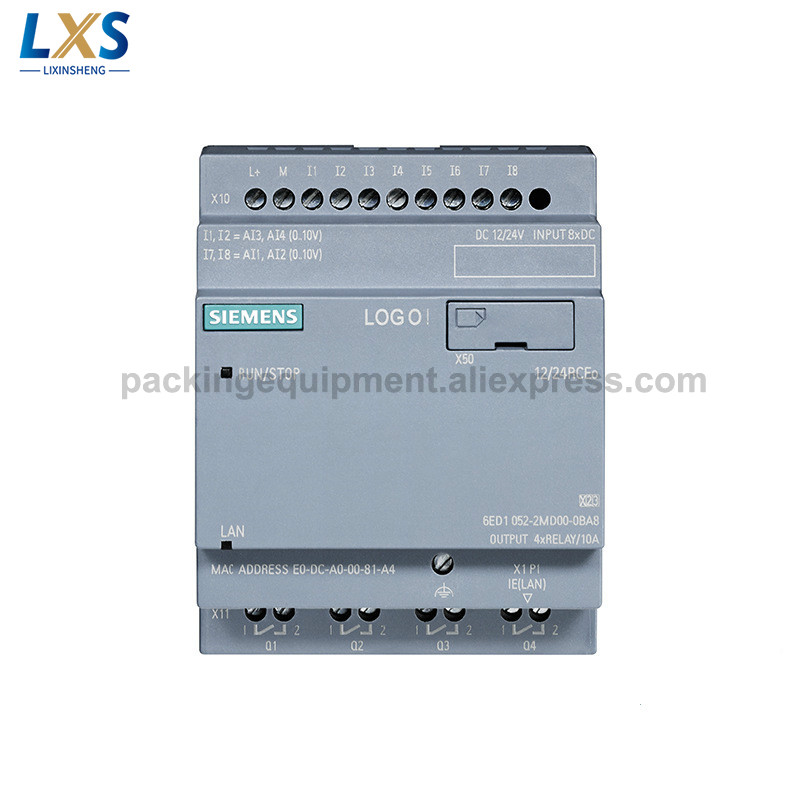Siemens PLC LOGO!8 12/24 RCEO 6ED1052-2MD08-0BA0 Logic Module for Industrial and Manufacturing Processes