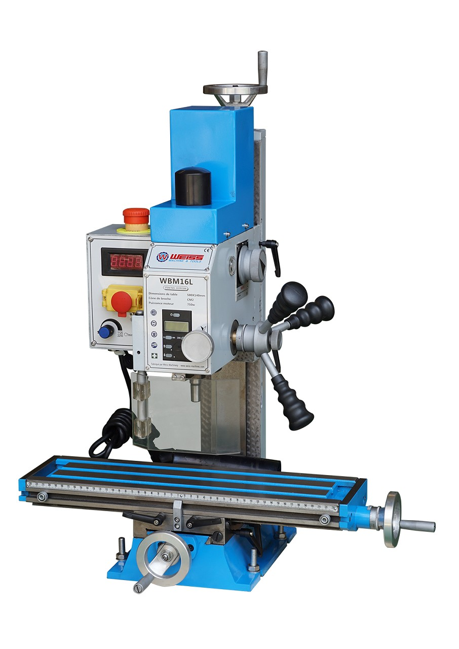 Mini Milling Machine Metal Drilling Benchtop Desktop Variable Speed Motor Spindle WBM16L Household Tools