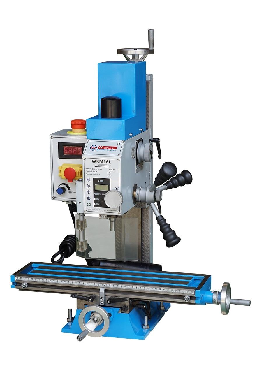Mini Milling Machine Metal Drilling Benchtop Desktop Variable Speed Motor Spindle WBM16L Household Tools