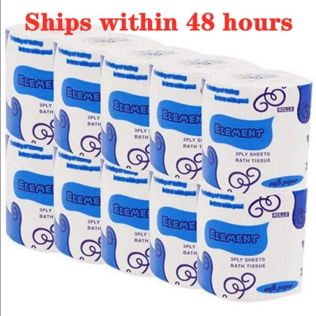 10 ROLL Toilet Tissue Sanitary Paper Silky Home Kitchen Toilet Tissue Soft Vrigin Wood Pulp GB Individual Package