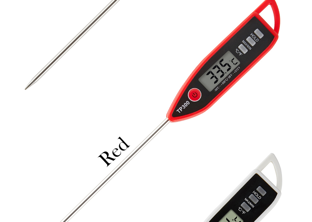 MOSEKO Newest Digital Food Thermometer for Cooked Food Barbecue and Milk with LCD Display and Temperature Control Key and Stainless Steel Probe 11