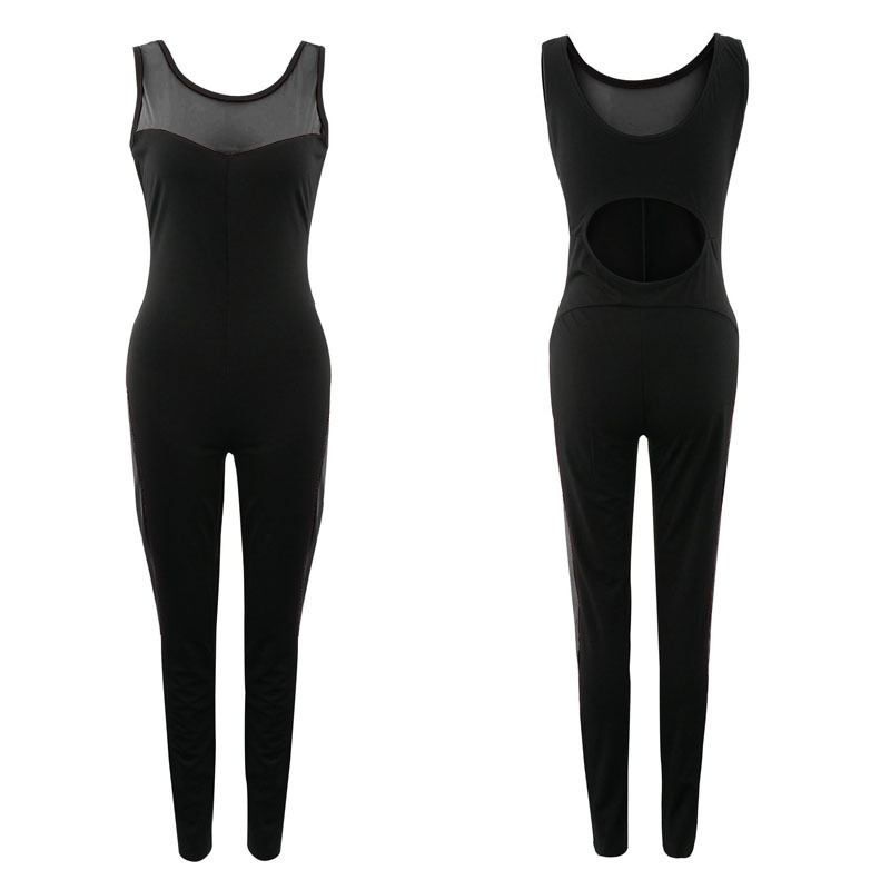 Women's One Piece Mesh Jumpsuits Product Picture