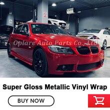 Höchste qualität super Glanz metallic blood red vinyl wrap candy red Vinyl wrap film red vinyl wrap qualität Garantie 5m/10m/18m