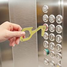 Protection des mains Portable EDC ouvre-porte poignée d'ascenseur crochet fermoirs de porte Aufzug Griff Werkzeug Sicherheit Schlussel