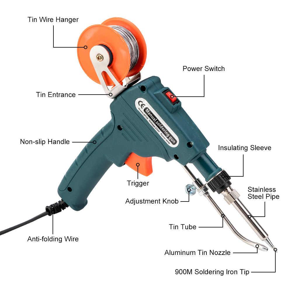 110 V/220 V 60W US/EU Stecker hand Interne Heizung Lötkolben Automatisch Senden zinn Gun Löten Schweißen Reparatur Werkzeug