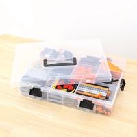 Component Organizer Adjust Pills Tool Storage Case Adjustable Transparent Plastic Storage Box for Building Blocks Lego Toys