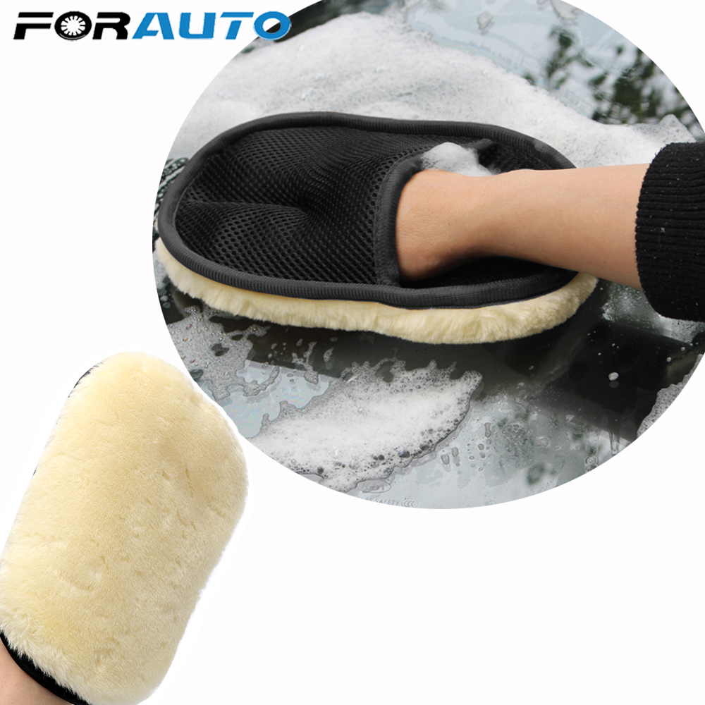 FORAUTO Car styling Soft Wool Car Wash Washing Gloves Auto Care Car Cleaning Microfiber 240*160mm Auto Detailing Tools|Sponges  Cloths & Brushes| |  - title=