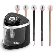Elektryczny Auto temperówka dotykowy przełącznik temperówka do 6-8mm ołówek i kolorowy ołówek szkolne biuro w domu piśmienne