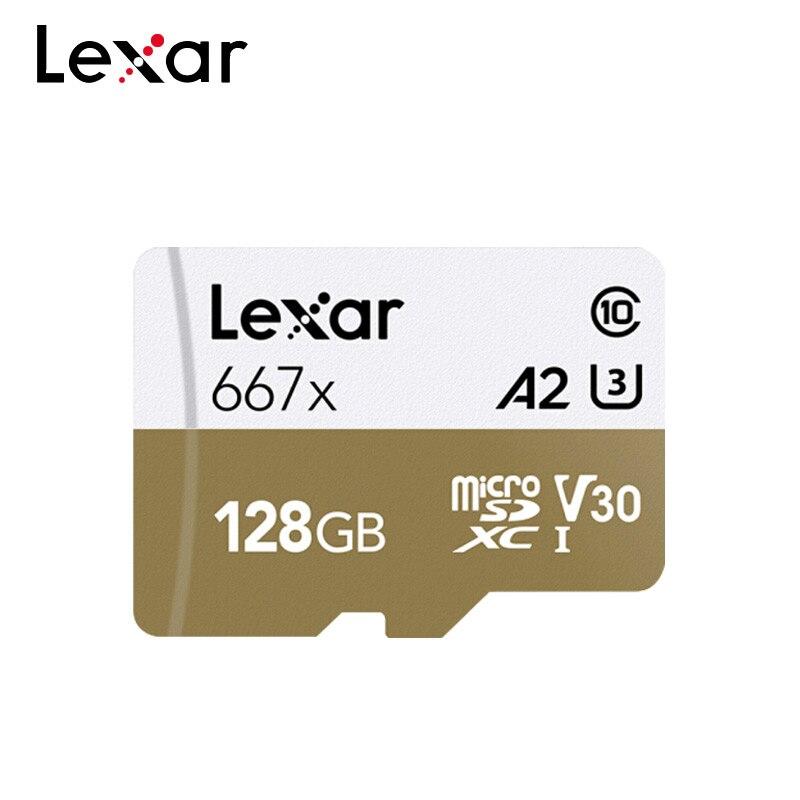 Original Lexar Cartão TF Cartão de Memória 667x256 GB 128GB SDXC GB V30 64 A2 U3 Classe 10 max 100 MB/s Mirco Cartão SD Com Adaptador
