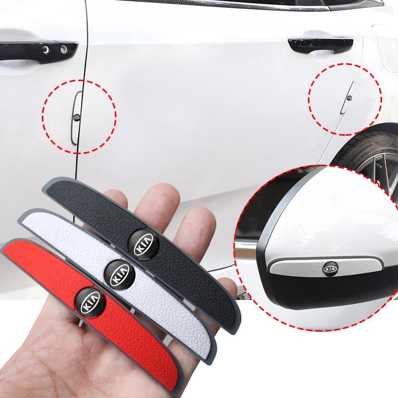 1Set Rubber Car Door Edge Corner Anti-Collision Strip Stickers Accessories For KIA Sportage Ceed Rio Picanto Sorento Soul Cerato