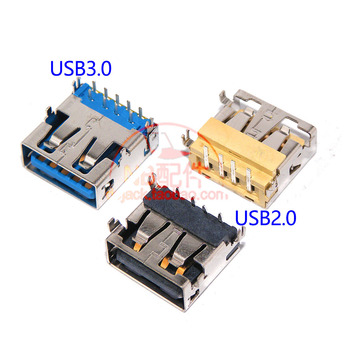 цена на 2pcs New 1.1cm 2.0 USB Jack for LENOVO Y400 Y410P Y430P Y500 Y510P USB2.0 USB3.0 USB Jack Connector short body