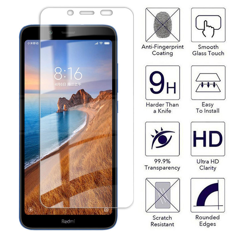 9H Tempered Glass For Xiaomi Redmi 5 Plus 5A 6 6A K30 Pro K30i Screen Protector Protective Redmi Note 6 5 5A Pro Glass Film Case(China)