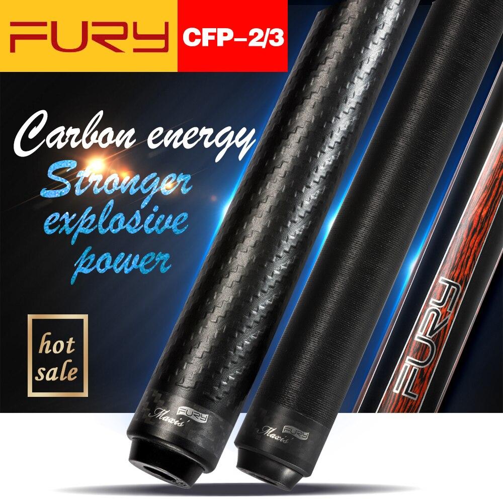 New Arrival Fury Billiard Black Technology Pool Cue Professional Carbon Fiber Tecnologia Shaft Hot Sale Billar Cue Stick Kit