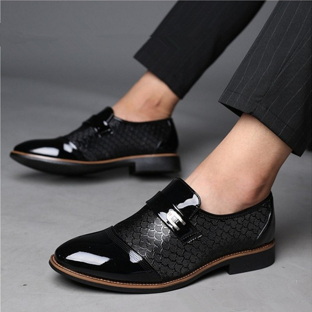 Italian Black Formal Shoes Men Loafers Wedding Dress Shoes Men Patent Leather Oxford Shoes For Men Chaussures Hommes En Cuir 4