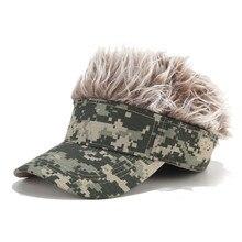 Caps Sport Outdoor Visor Wig Chemotherapy-Hat Baseball-Cap Sun-Hat Fake-Hair Funny Novelty