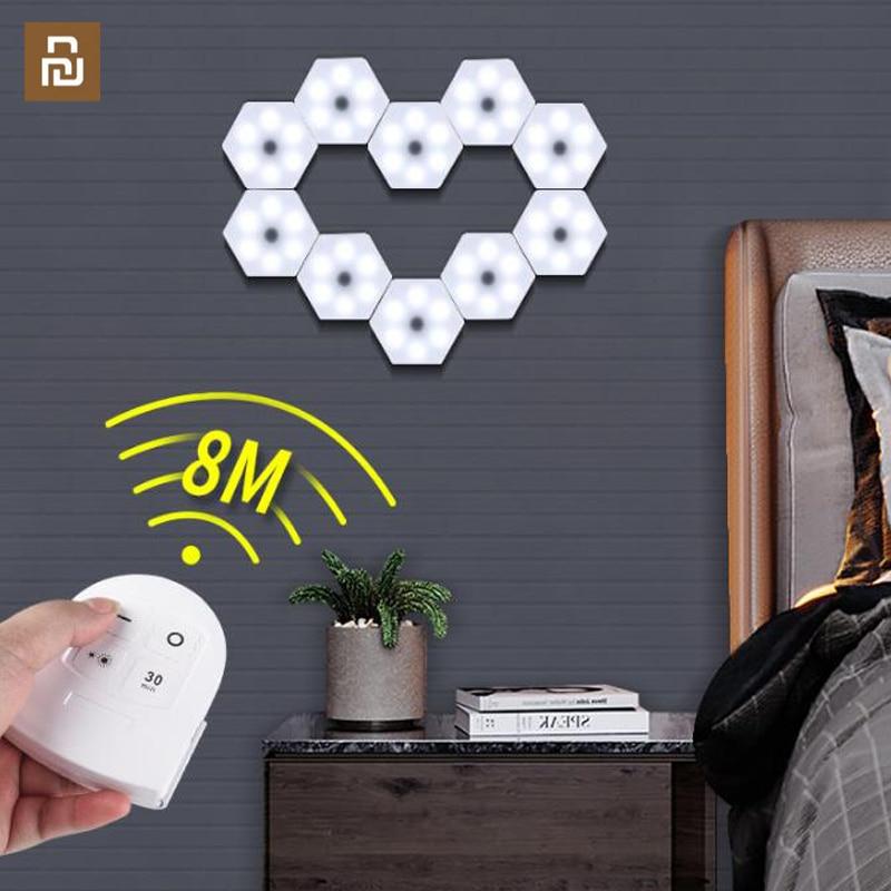 Xiaomi новая лампа с дистанционным управлением, Сенсорная лампа, может быть соединена с Сотами, ночник, домашний декор, настенная лампа|Смарт-гаджеты|   | АлиЭкспресс