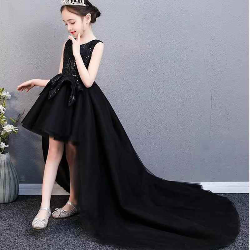 Коллекция 2019 года, платья для девочек на выпускной, свадебные платья с блестками Детские вечерние платья принцессы на день рождения, Vestido, платье для первого причастия, F95