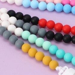Bebé chupete Clips cadena titular de silicona Clip para chupete perlas masticables de juguete de dentición 090A