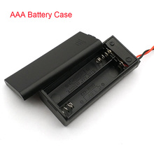 AAA Battery Holder Case Box With Leads With ON/OFF Switch Cover 2 Slot Standard Battery Container